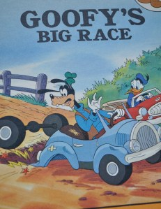 "This is a very good children's book to which Donald learns from Goofy, ""Slow and steady wins the race!"""