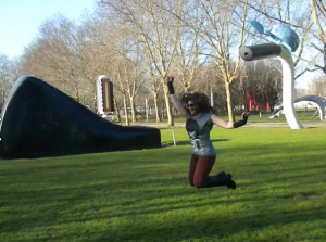 Here's me jumping for Claes #16 in Paris!