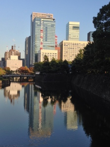 moat! Otemachi in the background.