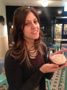 did this cupcake make me feel like I've gained a bunch of weight? possibly. Or maybe eating 3 of them did.